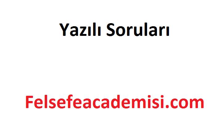 Photo of 11. Sınıf Felsefe 1. Dönem 2. Yazılı Soruları ve Cevap Anahtarı 2019-2020